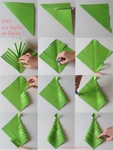 Sapin En Papier Plié : fabrique des sapins en papier diy facile et rapide ~ Melissatoandfro.com Idées de Décoration