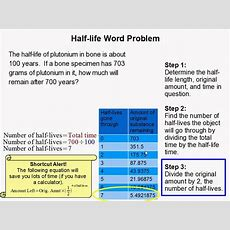 How To Do A Halflife Word Problem Youtube