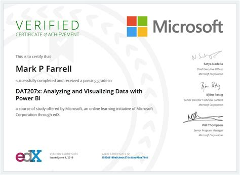 Power Bi Resumes by Certifications P Farrell S E Resume