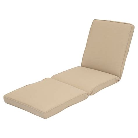 outdoor chaise lounge cushion beige smith target