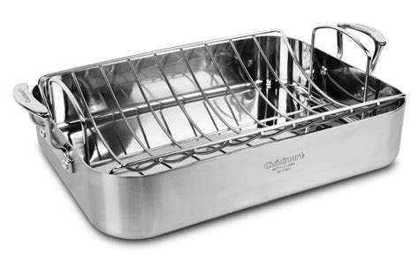 roasting pan with rack cuisinart multiclad pro stainless steel roasting pan with