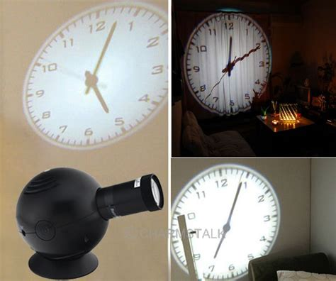 led analogue projection wall clock cold lights beam