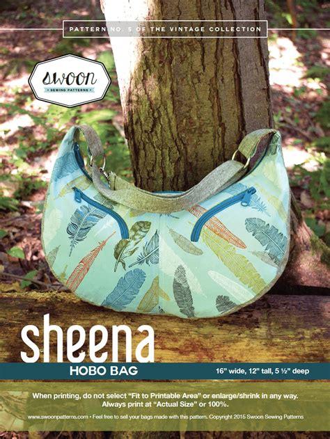 sheena hobo bag swoon sewing patterns