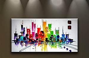 Toile Deco Salon : tableau moderne pas cher avec toile deco avec peinture d corative sur toile et toile deco sur ~ Teatrodelosmanantiales.com Idées de Décoration