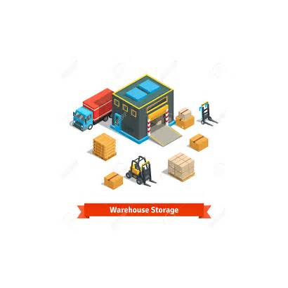 Warehouse Wholesale Clipart Building Storage Forklift Vector