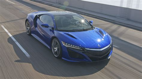 2017 acura nsx on track blue color in top speed latest