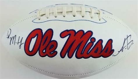 ole  rebels sports memorabilia signed autographed