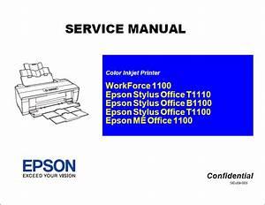 Epson Stylus Office T1110 B1100 T1100 1100 Service Manual