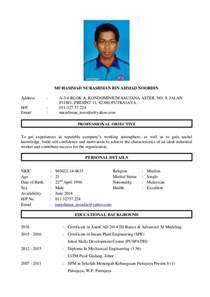 contoh resume untuk spa8 2 resume kerja nurashman