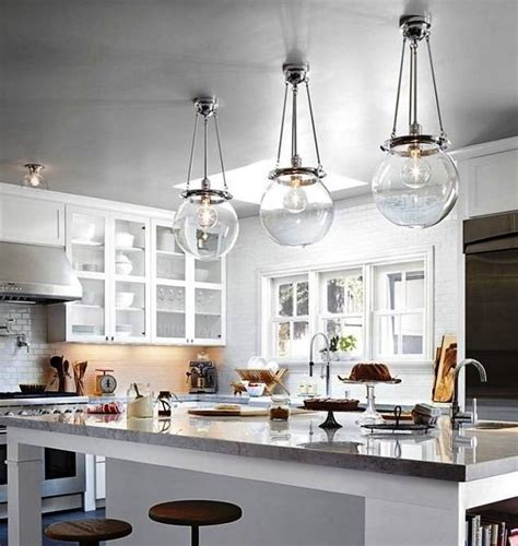 3 pendant light kitchen island 15 inspirations of clear glass pendant lights 7317
