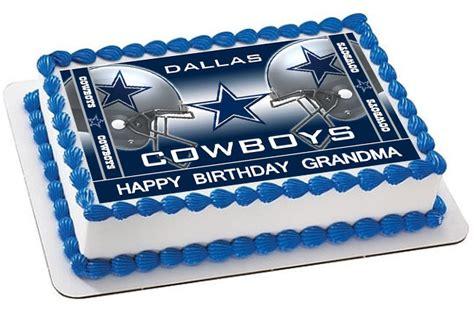 dallas cowboys  edible birthday cake topper