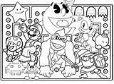 Coloring Arcade Tickets Character Characters Drawing Template Drawings sketch template