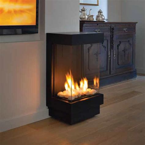 Standalone 40 TS Front and Two Sides Gas Fireplace   The Barn