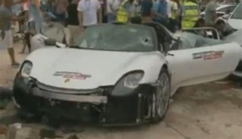 porsche 918 crash porsche 918 crashes into crowd at malta motor show 26