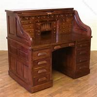 antique roll top desk Edwardian Oak Roll Top Desk - Antiques Atlas