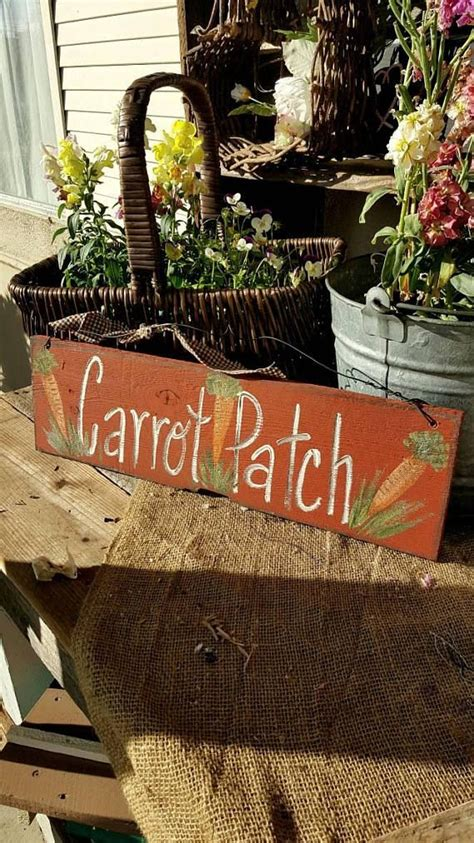 Carrot Patch Wood Sign Outdoor Easter Rustic Home