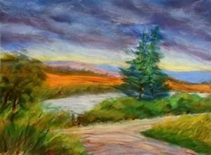 oil pastel landscape - WetCanvas