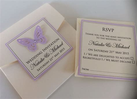 handmade personalised pocketfold butterfly wedding