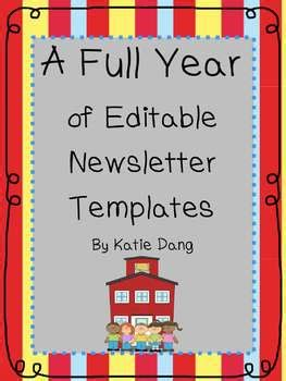 editable newsletter templates   entire year  dang