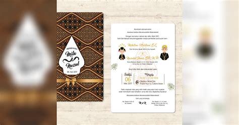 contoh desain undangan pernikahan pilihan terbaik