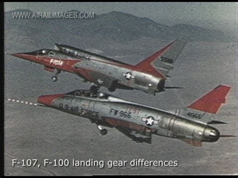F-107 Mach 2 Experimental Jet Fighter - YouTube