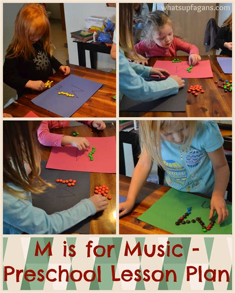 Percussion instruments are often the best to start children off with for it improves let them explore and play among themselves. Letter M Activities for Preschool: M is for Music Lesson