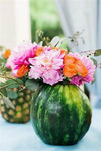 Summer Centerpieces Using Fruit for Vases - OMG Lifestyle Blog