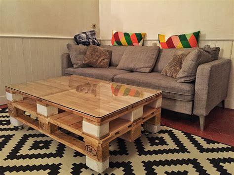 Table basse palette moderne