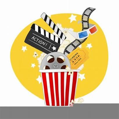 Clipart Popcorn Clip Cliparts Clker Stars Night