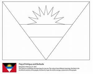 Dibujo de Bandera de Antigua y Barbuda para colorear Dibujos para colorear imprimir gratis