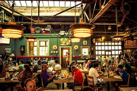 the garage eatery motor city dine at one of the oldest garages in america