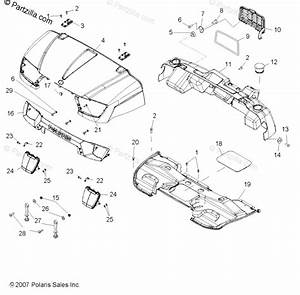 Polaris Side By Side 2008 Oem Parts Diagram For Body  Hood