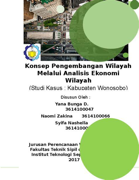 doc konsep pengembangan wilayah melalui analisis ekonomi