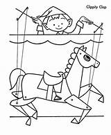 Puppet Coloring Clippity Clop sketch template