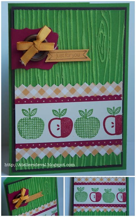 Stampin Up Card Apple's