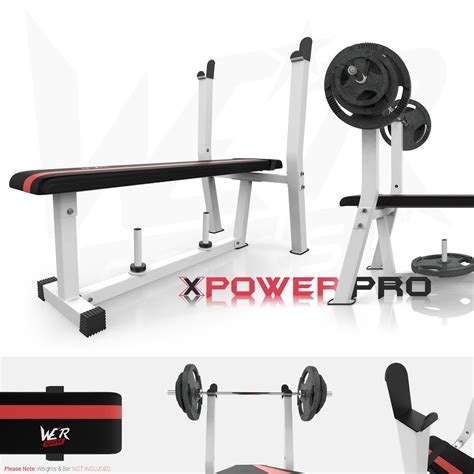 flat weight bench  rack plate holder shoulder chest press fitness workout weight benches