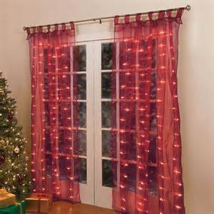 84 quot lighted pre lit christmas light window panel curtains holiday decor 4 colors ebay