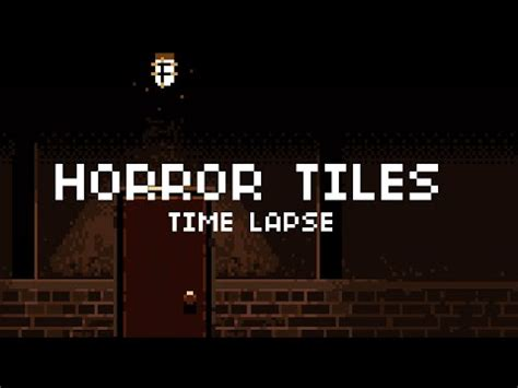 Pixel Art Time Lapse Grungehorror Tile Set Youtube