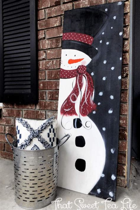 easy diy christmas signs   festive front porch