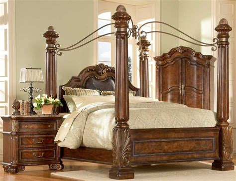 Big Bedroom Sets by Big Post Bed King Size Canopy Bed Ebay