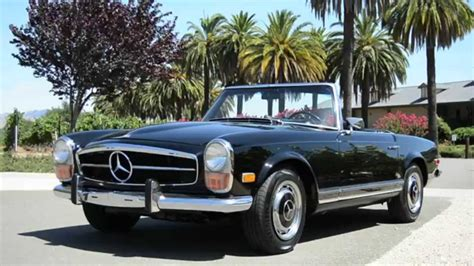 convertible mercedes black 1971 mercedes benz 280sl black convertible hardtop youtube