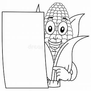 Coloring Corn Cob Character With Paper Stock Vector ...