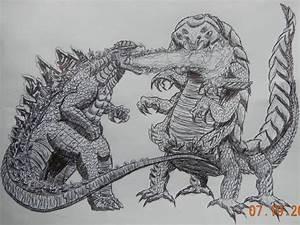 Godzilla 2014 vs Talaghan 2014 by BozzerKazooers on DeviantArt