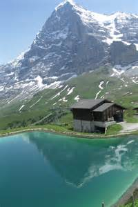 Swiss Alps Mountain Cabin