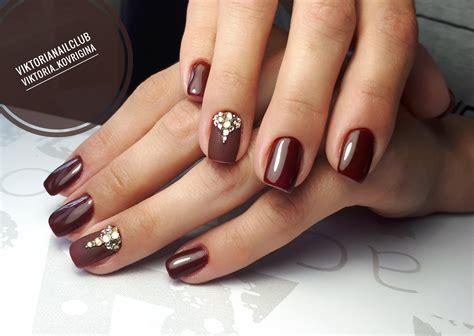 Dark Maroon Nail Designs