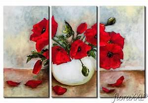Tableau Fleurs Moderne : tableau moderne coquelicots fleurs surprenantes ~ Teatrodelosmanantiales.com Idées de Décoration