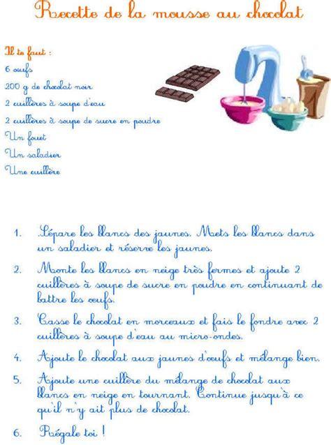 imprimer la recette de la mousse au chocolat tete  modeler