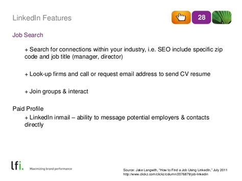 Attach Resume Linkedin Inmail by Linkedin 101 Ppt