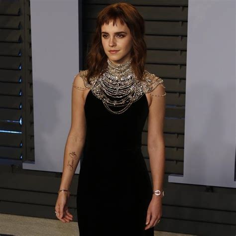 Emma Watson Sports New Tatttoo Vanity Fair Party