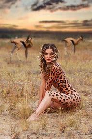 Woman Leopard Body Paint